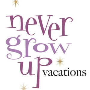 Never Grow Up Vacations Logo